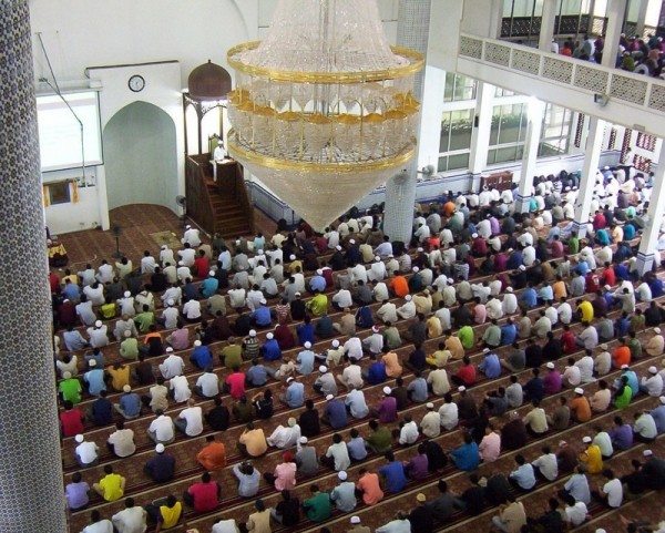 Friday prayers at Universiti Teknologi Malaysia